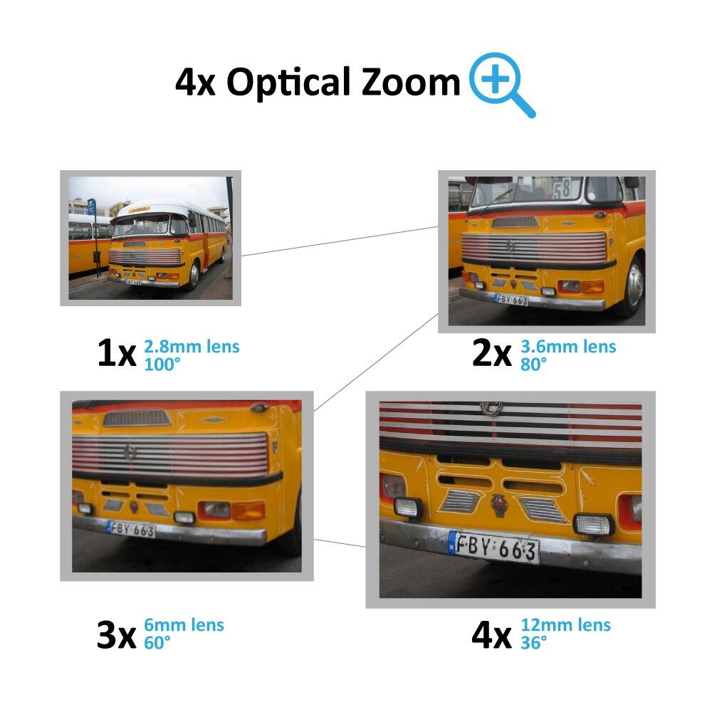 H 265 5MP 2592*1944 Waterproof IP Camera Surveillance Video 4XZoom PTZ  Camera 5MP 2MP Onvif DC 12V 48V POE Support Cloud Storage
