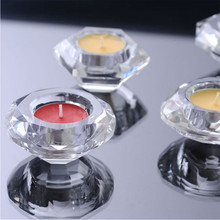 Portable Hot Sale Classic Crystal Glass Candle Holder Wedding Bar Party Home Decor Candlestick