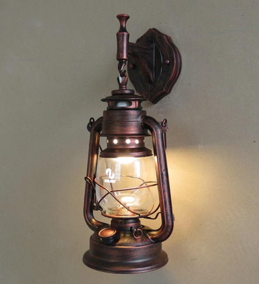 Fashion antique Wall lights wrought iron vintage lantern ...