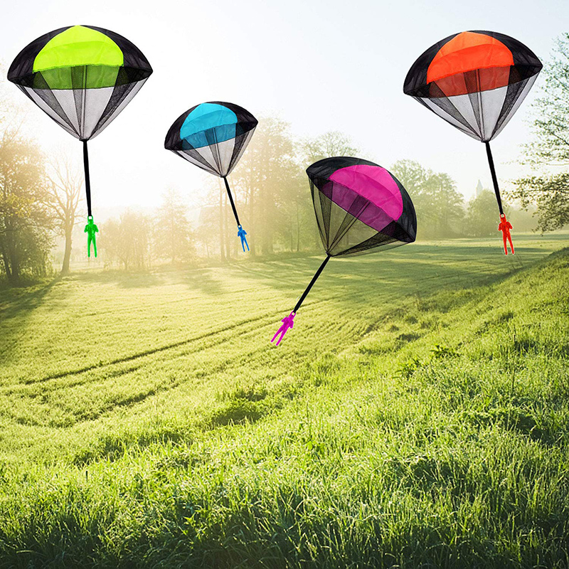 Hand Throwing Mini Soldier Parachute Funny Toy Kid Outdoor Game Play Educational Toys Fly Parachute Sport for Children Toy 4