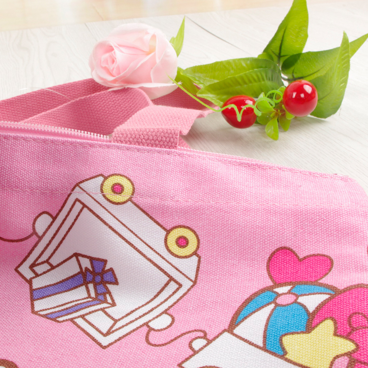 Kawaii Hello Kitty Melody Reusable Canvas Shopping Bag Shoulder Bags  Foldable Folding Grocery Bags Large Eco Cartoon Tote Bags-in Shopping Bags  from Luggage ... 9b2a0c9792