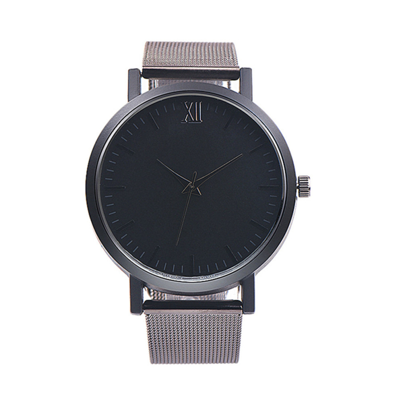 Excellent Quality Luxury Brand Women Men Watches Full Stainless Steel Ultra Thin Band Quartz Wristwatches Relogio Masculion