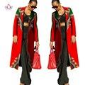 Otoño Moda Nuevos Vestidos para Las Mujeres Africanas Ankara Material Bazin Riche Africano Dashiki Imprimir Escudo Fosa de Las Mujeres 6XL WY113