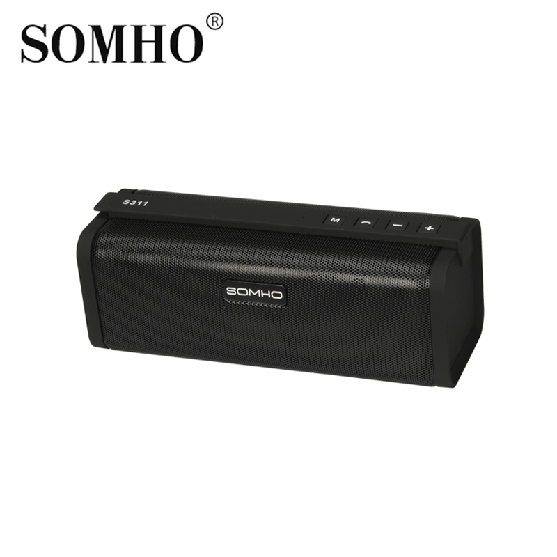 Original SOMHO S311 Mini Bluetooth Wireless Portable Music Speaker Indoor Stereo Hands Free Audio Sound Subwoofer Speakers t050 3w mini portable retractable stereo speaker w tf black golden 16gb max