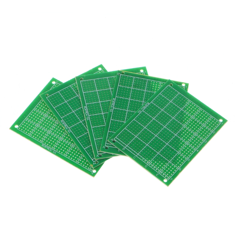 цена на 5 Pcs/SET FR-4 Single Side DIY Soldering Prototype PCB Printed Circuit Board 70x90mm Green Thickness 1.6mm Hole 2.54mm*1.0mm