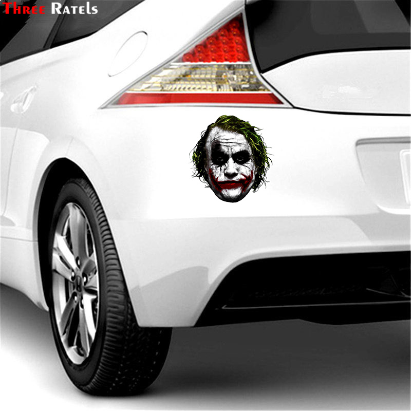 Image 3 - Three Ratels TRL744# 10.4x14.2cm joker why so serious funny car stickers car stickers and decals-in Car Stickers from Automobiles & Motorcycles
