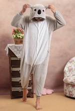 Adult Pajamas Grey Koala Onesie Sleepsuit sleepwear Anime Cosplay Costume Unisex Cartoon