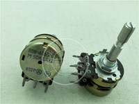 Original new 100% Japan R08 4065 05 50KAX2 dual potentiometer A50K with 10 point stepping handle length 35MM flower axis SWITCH