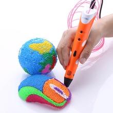 orange yellow 3D pens DIY printer pen with 200 meter 20 colors ABS arts 3 d printing toys caneta 3d for kids drawing tools
