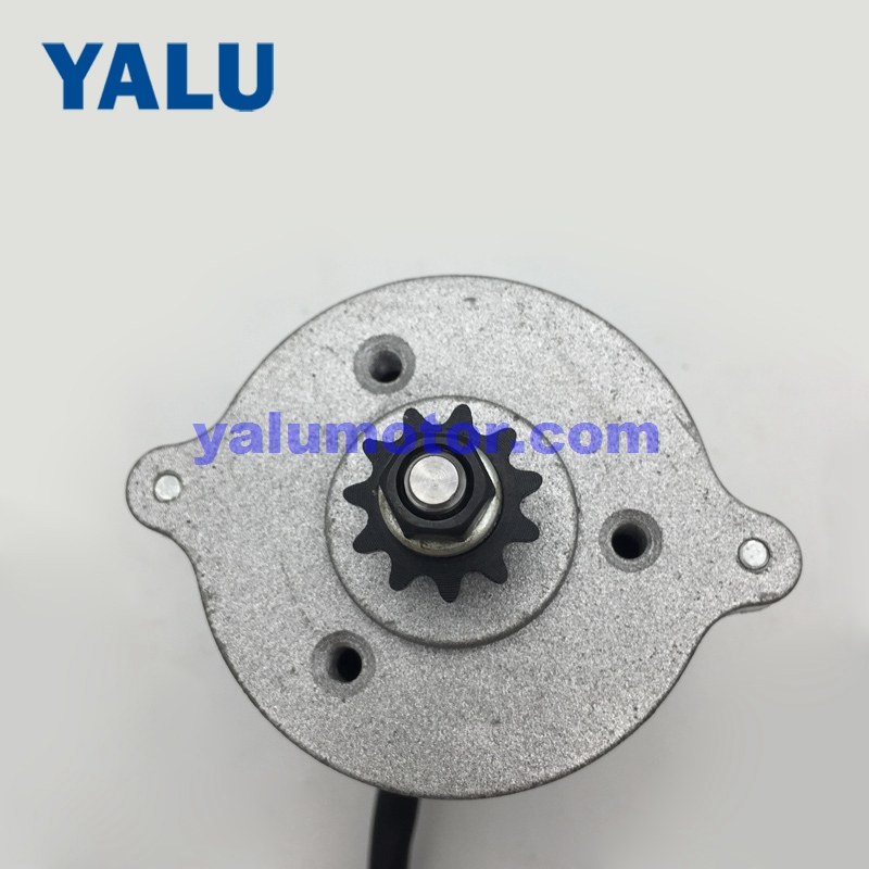 YALU MY7618 500W 24V 36V UNITEMOTOR Sprocket Mountain Bike Conversion Kit Accessory Electric Scooter Motor with 25H/T8F Pinion