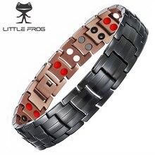 LITTLE FROG  99.95% Copper Benefits Vintage Energy Magnetic Bracelet Charms Mens Magnet Health Bracelets Bangles