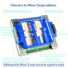 Chinafix-х Многофункциональный Ремонт Платформа для iphone x загрузки монитор touch вспышка приемник динамик беспроводной сети лицо