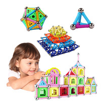 108 PCS Great Gift Children Magnetic Building Blocks Kids Educational Toy Magnetic Stick Child Pretty Box