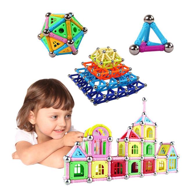 108 UNIDS Gran Regalo de Los Niños Bloques de Construcción Para Niños Juguete Educativo Magnético Palo Magnética Niño Bonita Caja Imán Juguete TSZ108-1