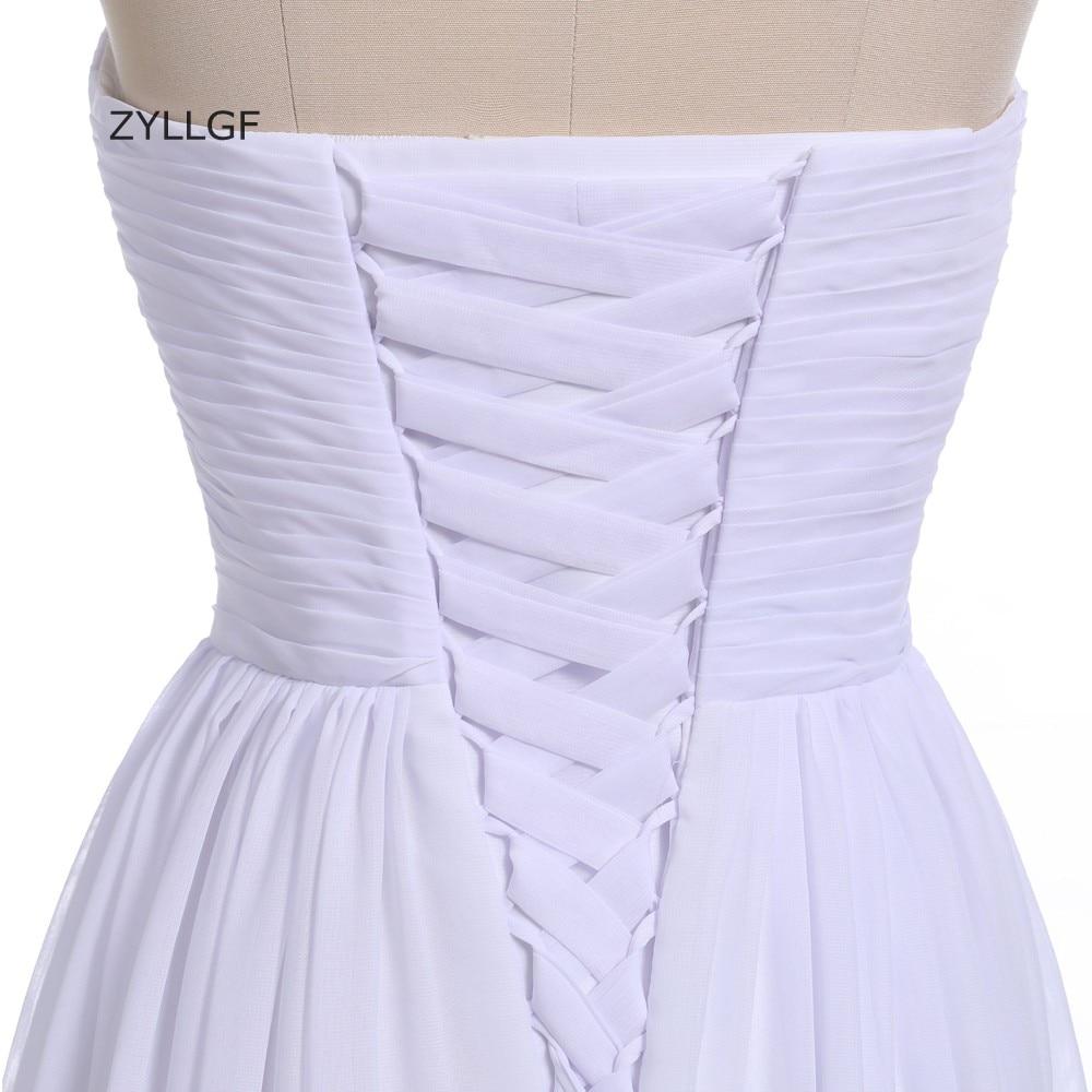 ZYLLGF plašt duša šifon djeveruša haljina duljina poda izlizati - Vjenčanje večernje haljine - Foto 5