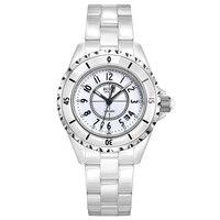 BUREI 18003 Switzerland watch women luxury brand J12 series pearl Ceramic calendar fashion number white relogio feminino