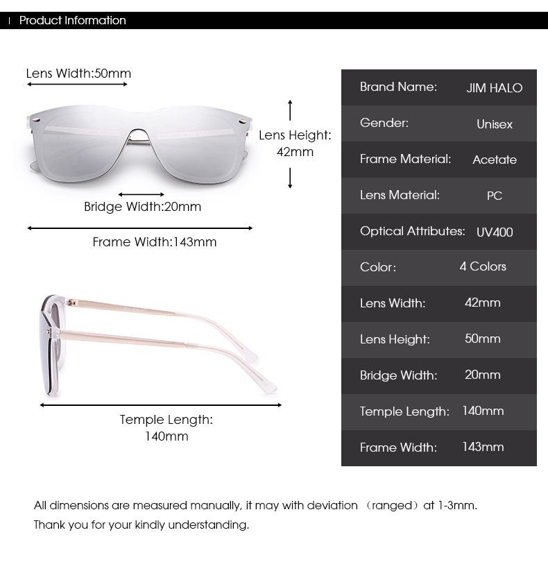 Esperanza Men Women Mirrored Rimless Wayfarer Sunglasses