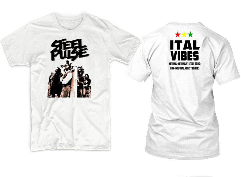 STEEL PULSE T SHIRT Tee Black All Size
