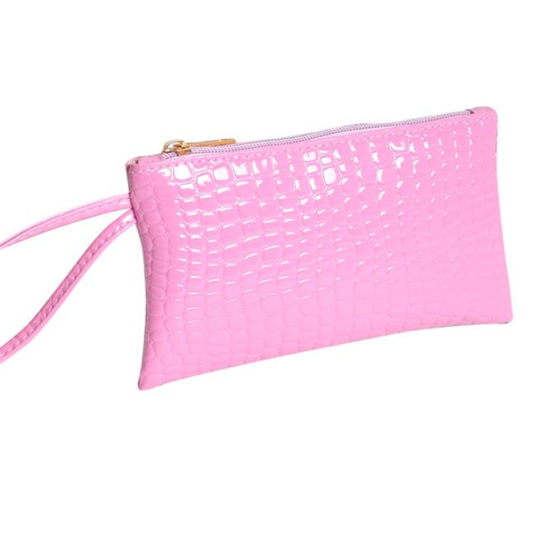 Women PU leather Crocodile Wallet Famous Brand Short Coin Purses Solid Color Clutch bag Card Coin purse Female Carteira Feminina candy leather clutch bag women long wallets famous brands ladies coin purse wallet female card phone holders carteira feminina