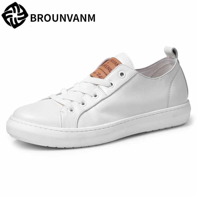 white shoes men trend Leisure shoes spring autumn new men's casual shoes Genuine Leather soft skin all-match cowhide breathable jancoco max new spring genuine soft cowhide leather men baseball caps autumn winter fashion solid army hats s3062