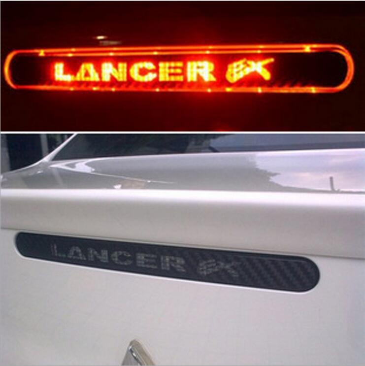 Carbon Fiber Brake Sticker For Lancer Ex 9 10 High Positioned Rear Brake Lights Stickers For Mitsubishi Lancer Car Accessories