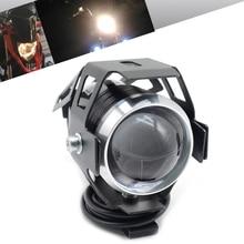 Universal 2PCS 125W motorcycle headlights auxiliary font b lamp b font U5 led motorbike spotlight accessories