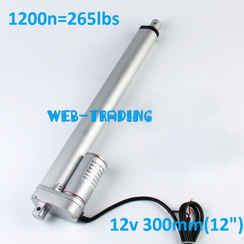 Free Delivery 12VDC 12 Stroke 265 Pound Max Lift linear actuator electric  300mm free delivery nozzle 253 433 512 kong