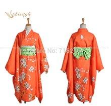 Kisstyle Fashion Anime Súper Dangan Ronpa 2 Hiyoriko Saionji Kimono Paño Cosplay Uniforme, Personalizado Cualquier Tamaño