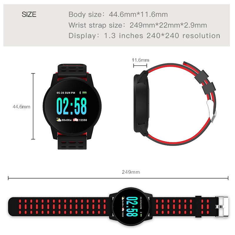 KESHUYOU W1 Smart Bracelet screen Fitness Tracker blood pressure Heart Rate Monitor smart band blood pressure For Android IOS in Smart Wristbands from Consumer Electronics