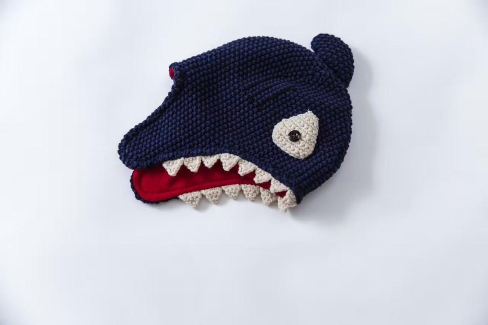 Forma linda del tiburón sombrero niño sombrero del bebé del algodón ...
