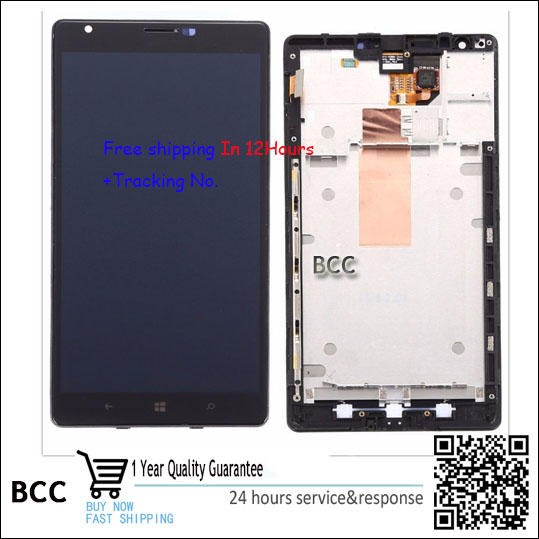 100% Original New For Nokia Lumia 1520 LCD display screen+touch screen digitizer+frame bezel assembly Test Ok