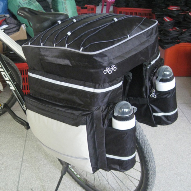 New Cycling Bike Bicycle Rear Rack Seat Pannier Bag Waterproof with Rain Cover multi function aluminum car frame rear cycling bike bicycle rack holder bicyles mount carrier for car