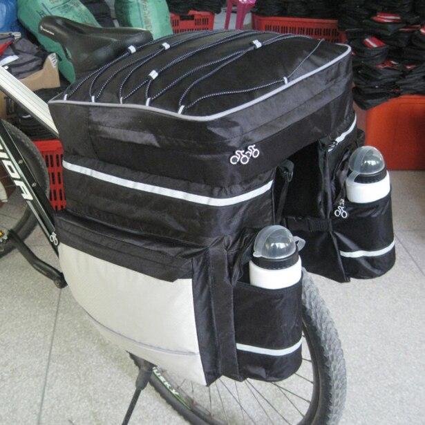 New Cycling Bike Bicycle Rear Rack <font><b>Seat</b></font> Pannier Bag Waterproof with <font><b>Rain</b></font> Cover