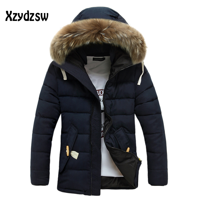 Winter Jacket Men Brand Men Down Coat Fashion Casual Hooded Warm Winter Jacket Mens Slim With Wool Collar Down Jacket XXXL ...