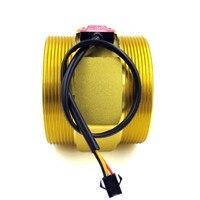 DN80 aluminum G 3 inch Water Flow Flowmeter Counter Hall Sensor Switch Meter 30 500L/min