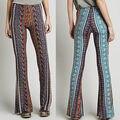 2016 fASHION Vintage High Waist Bell Bottom Long Flare Pants Stretch Boho Hippie tribe Trousers S M L XL