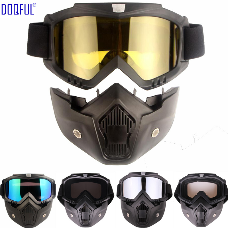 Windproof Safety Goggles Mask Removable Dust Proof UV Protection Bicycle Motorcycle Tactical Protective Eye Glasses Face MasksWindproof Safety Goggles Mask Removable Dust Proof UV Protection Bicycle Motorcycle Tactical Protective Eye Glasses Face Masks