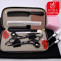 2pcs 6 0 Inch Hair Scissors Pro Teflon Hairdressing Styling Tools Salon Cutting And Thinning With