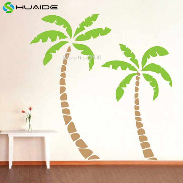 Exceptionnel 2pcs Palm Tree Wall Decals Large Size Tree Wall Sticker Home Decor Living  Room Removable Custom