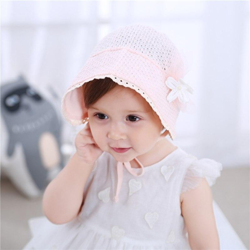 Neugeborenes Baby Mädchen Kleinkind Säugling Spitze Blume Mütze Hut Kappe