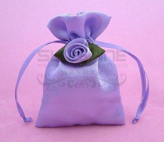 Satin Gift Favor Bag Candy Bag 96cm Purple Gift Box Packing