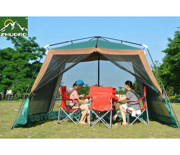 ZHUOAO New Style Automatic Ultralarge 310*310*210CM 4-6 Person Use Camping Tent Large Gazebo Beach Tent Sun Shelter