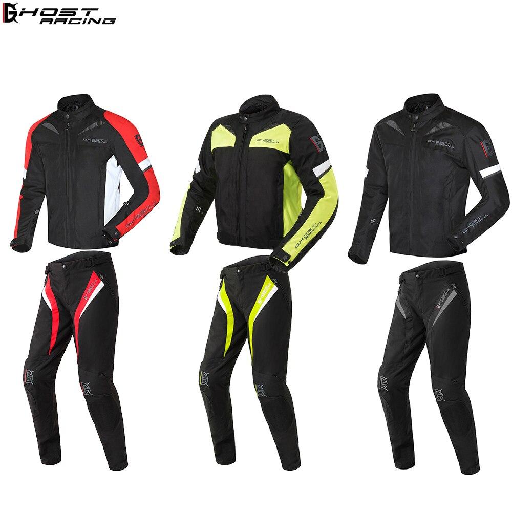 FANTÔME COURSE Étanche Moto Veste Motocross Costumes Veste et Pantalon Moto Veste De Protection D'armure de Vitesse Moto Vêtements Ensemble