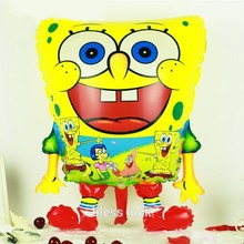 1Pcs Sponge Bob Shape Foil Helium Balloons Spongebob Kids Toys Happy Birthday Party Decorations Supplies Baloons Ballons