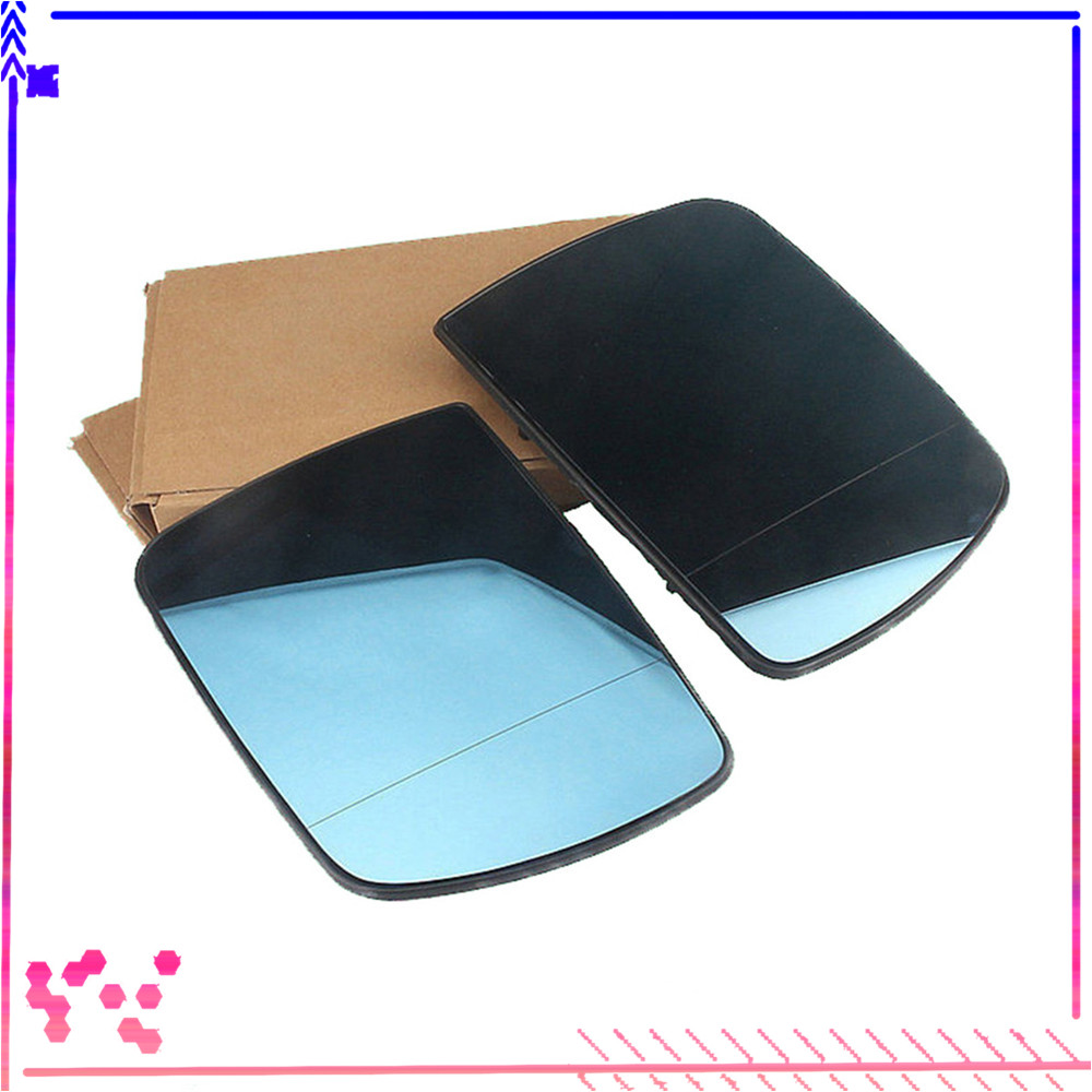 Blue Pair Front Left Right Side Wing Mirror Glass With Heated For BMW X5 E53 00 06 51 16 7 039597 51 16 7 039598 51167039597-in Mirror & Covers from Automobiles & Motorcycles