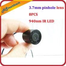 กันน้ำ940nm IR Night Vision Mini 3.7มม.เลนส์Pinhole Microกล้องวงจรปิดสำหรับกล้องHD DVRวิดีโอระบบ