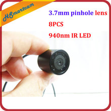 Waterproof 940nm IR night vision mini 3.7mm pinhole lens micro CCTV color camera For HD DVR Video System