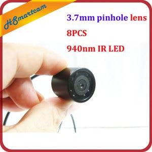 Image 1 - Wodoodporny 940nm IR night vision mini 3.7mm obiektyw otworkowy micro CCTV kamera kolorowa do systemu wideo HD DVR