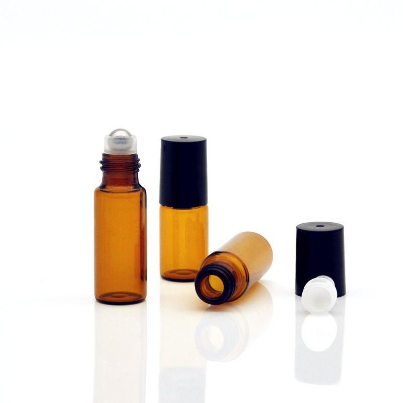 garrafa amostra teste frascos de óleo essencial com rolo metal bola de vidro