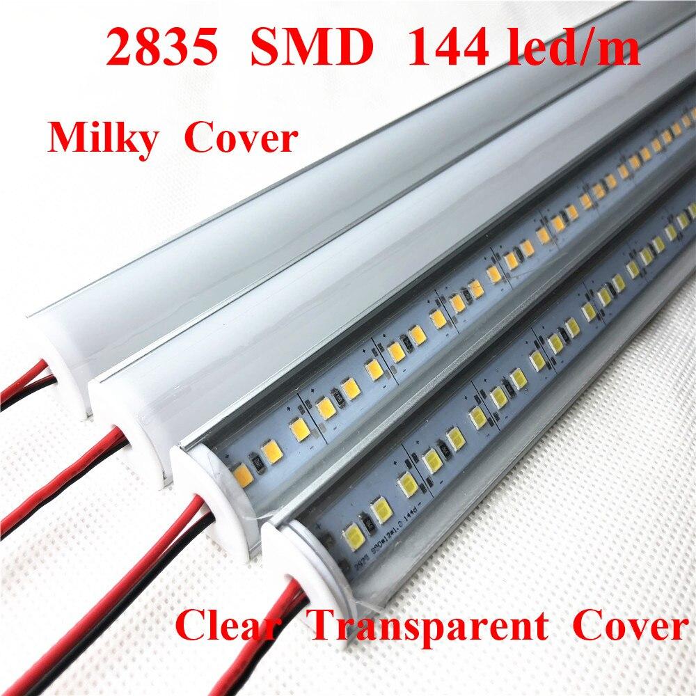 Smarstar 12V 100cm 2835 coin V boîtier en aluminium lait couverture claire 1m barre de LED lumière LED dur bande lumière supermarché éclairage à la maison